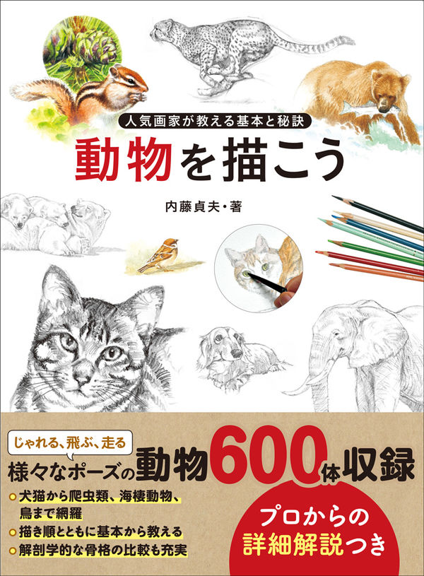 動物を描こう 内藤 貞夫(著/文) - 玄光社