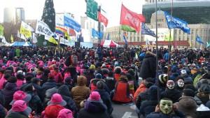 ソウルのデモは緊張感がありました%u30022015年12月5日